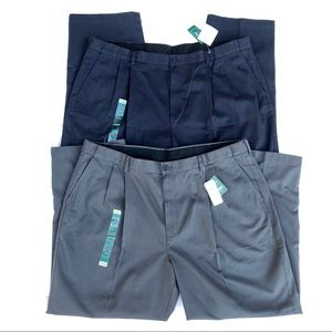 NEW! (2) Men's L.L. Bean Khaki Chino Pants 44 x 29